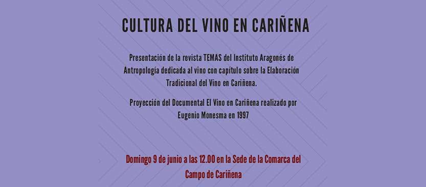 Próximo evento en Cariñena: Cultura del Vino